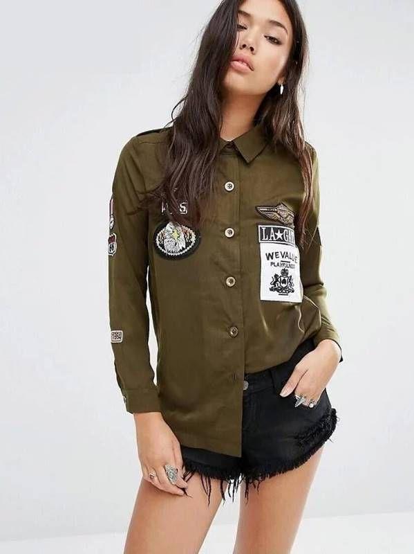 Camisa Militar com Patches - Compre Online