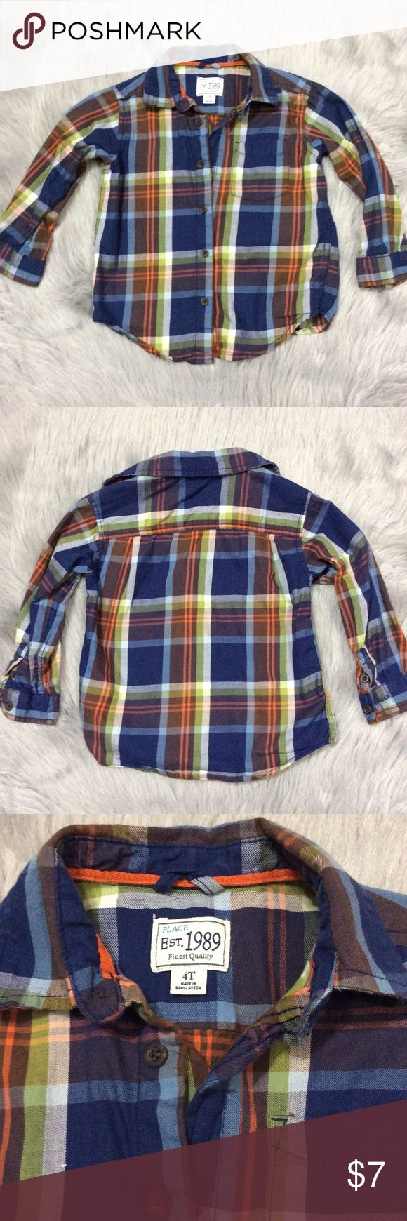 Boy's dress shirt Nice boy's dress shirt in excellent condition. Bundle for more discounts Children's Place Shirts & Tops Button Down Shirts