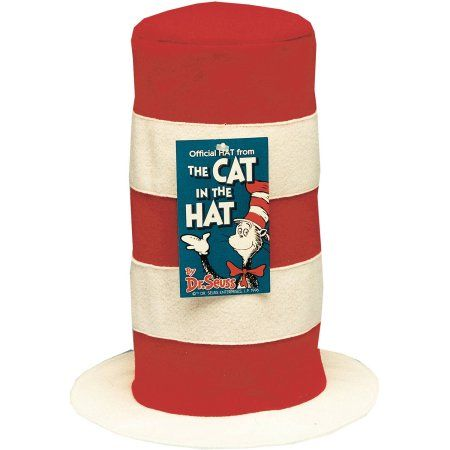 Official Hat from Cat In Hat Adult Halloween Accessory, Women's, Multicolor