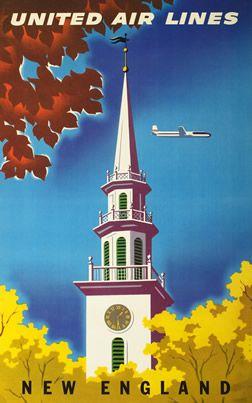 "Joseph Binder, ""New England - United Air Lines"" 1955 ca."
