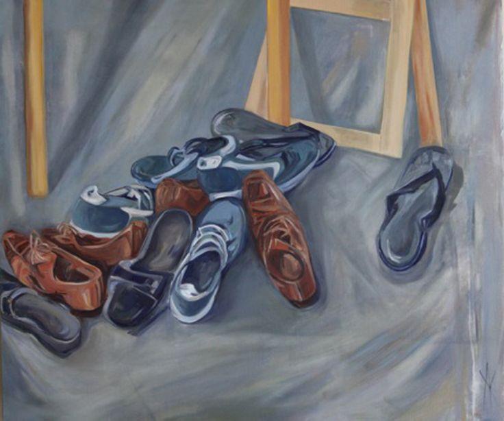 Anastasija Komarnyckyj Artist Considered Steps Oil on linen 100 x 120cm $1300-