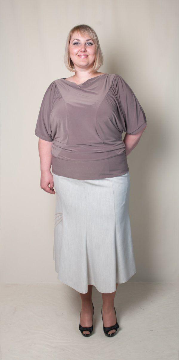 Блуза женская (короткий рукав). Цвет бежевый. Размеры: 52, 54, 56, 58, 60.