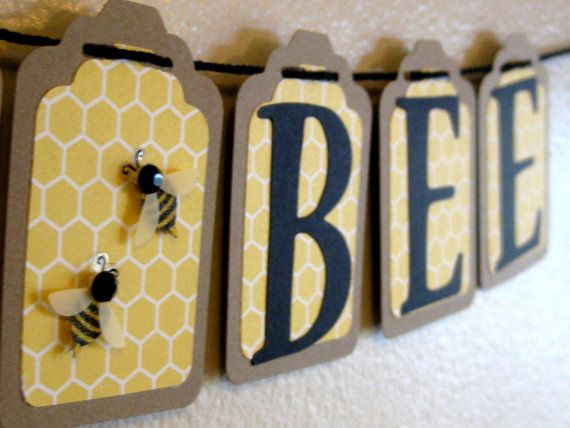 Mommy To Bee Baby Shower Banner Themed Bunting