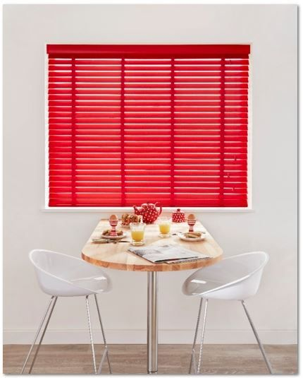 Red Wooden Venetian Blind http://www.madetomeasureblinds-uk.com/blog/2015/01/16/pull-the-blinds-and-lets-talk-about-love/