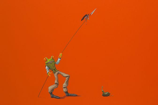 Speer / Spear 80 x 120 cm - acrylverf op doek / acrylic on canvas - 2016 - in opdracht / in commission