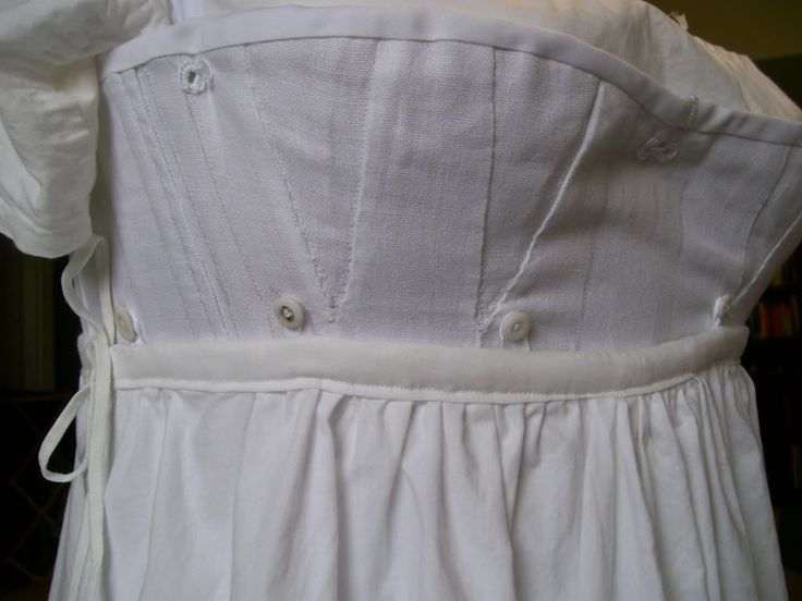 Holding up those petticoats. Buttons! via Living with Jane