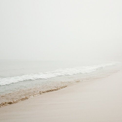 At the beach on a foggy day