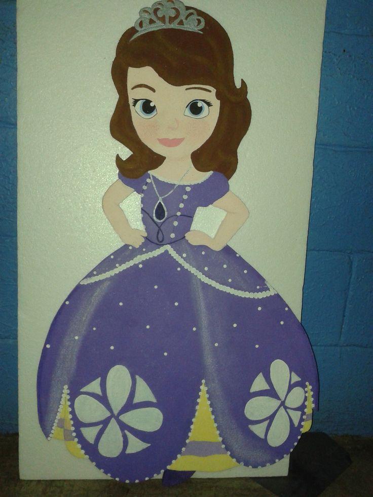 princesita sofia de estereofon o unicel pintada a mano