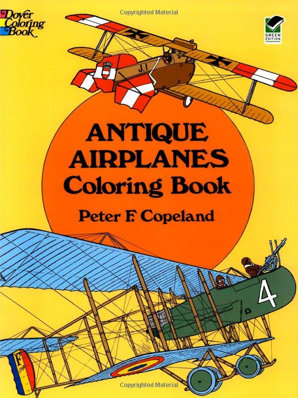 Antique Airplanes Coloring Book Dover History Peter F