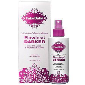 Fake Bake Flawless Darker http://www.ebay.com/itm/New-Fake-Bake-Flawless-Darker-Self-tanning-Mist-Spray-6oz-Bottle-Gloves-Mitt-/252167802365?hash=item3ab65f4dfd:g:b-oAAOSw4UtWRHMW&rmvSB=true