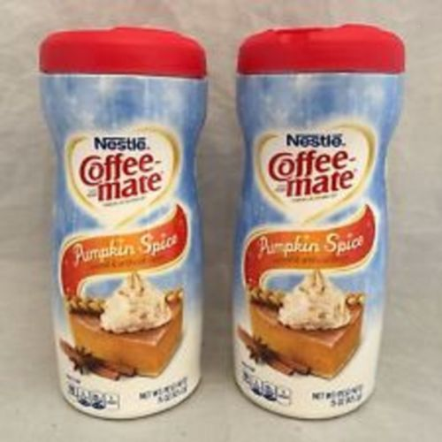 Lot-Of-2-Coffeemate-Pumpkin-Spice-Coffee-Creamer-15-Oz-Brand-New