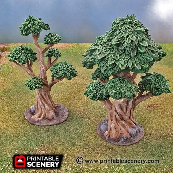 Trees for 28mm 40k Legion Terrain Scenery Tabletop Miniatures Wargame