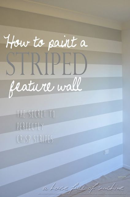 Theo's surprise nursery makeover Part One: How to paint a striped feature wall with perfectly crisp stripes
