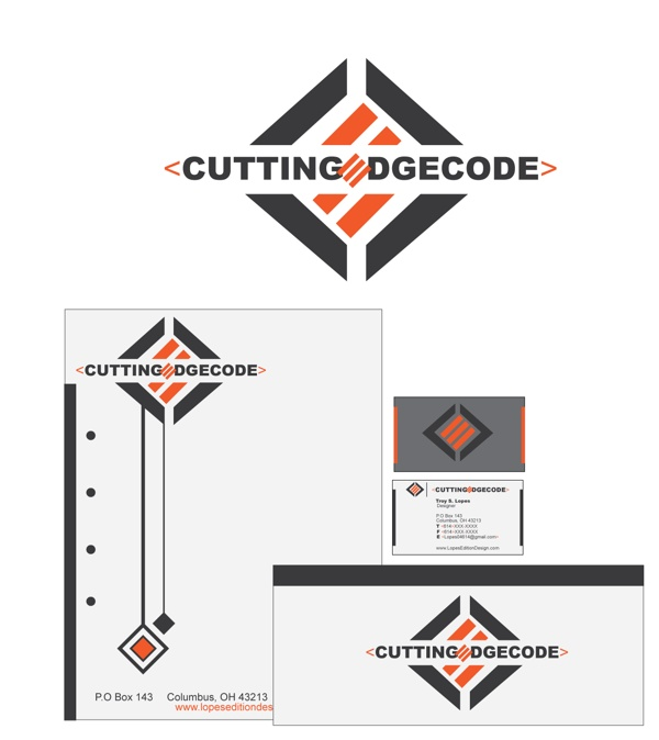 Cutting Edge Codes brand idea by Troy Lopes, via Behance