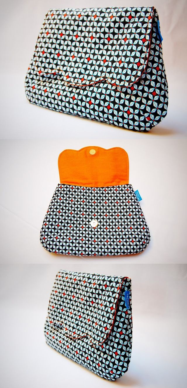 Flores Clutch - pattern from ithinksew.com