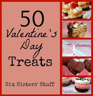 50 Perfect Valentine's Day Treats from sixsistersstuff.com #Valentines #Treats