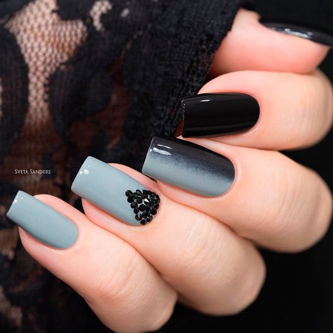 Cool Ideas for Black Gel Manicure picture 3