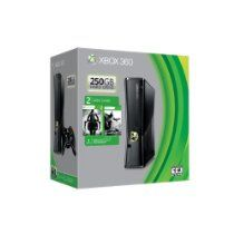 Xbox 360 250GB Spring Value Bundle From Microsoft Price: $285.76 & eligible for FREE Super Saver Shipping  •Xbox 360 250GB Hard Drive •Darksiders II •Xbox 360 Wireless Controller and Xbox 360 Headset •Free 1 Month Xbox LIVE Gold membership •Batman: Arkham City Downloadable Token