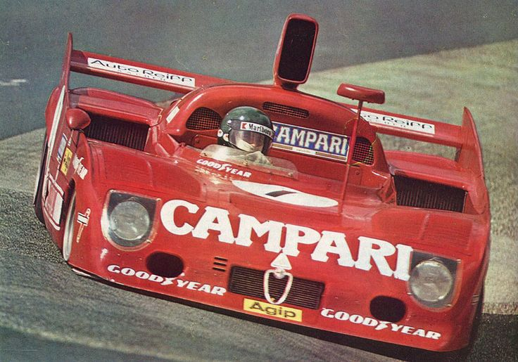 Jacques Laffite and Arturo Merzario in the fantastic Alfa Romeo T33/TT/12 (1975 - Nurburgring 1000)