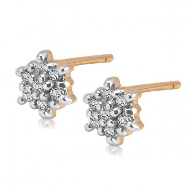 Złote Kolczyki z Diamentami, 499 PLN, www.Bejewel.me/zlote-kolczyki-z-diamentem-696  #jewellery #gold #bejewelme #bjwlme #shoponline #accesories #pretty #style