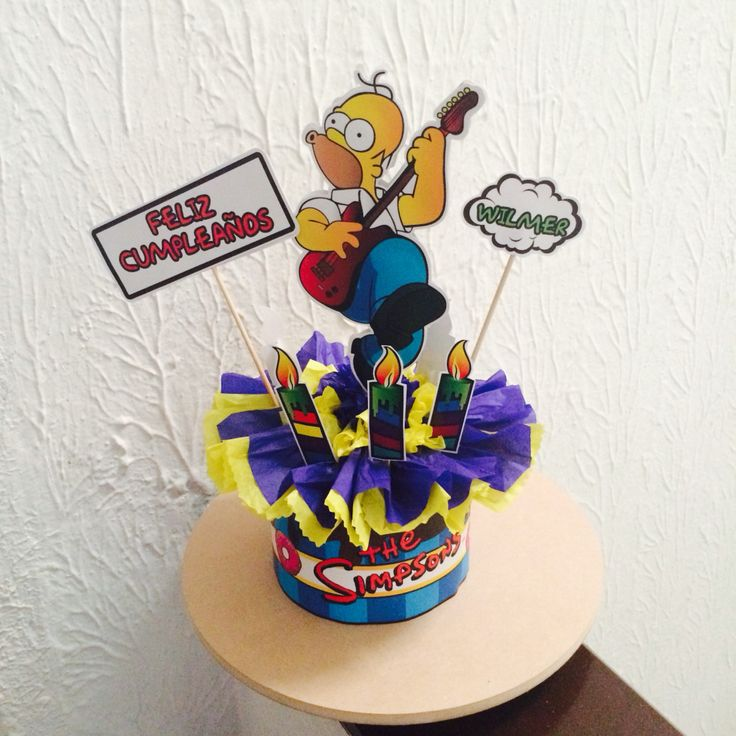 Centro de mesa The Simpson's por #ViCani_Design