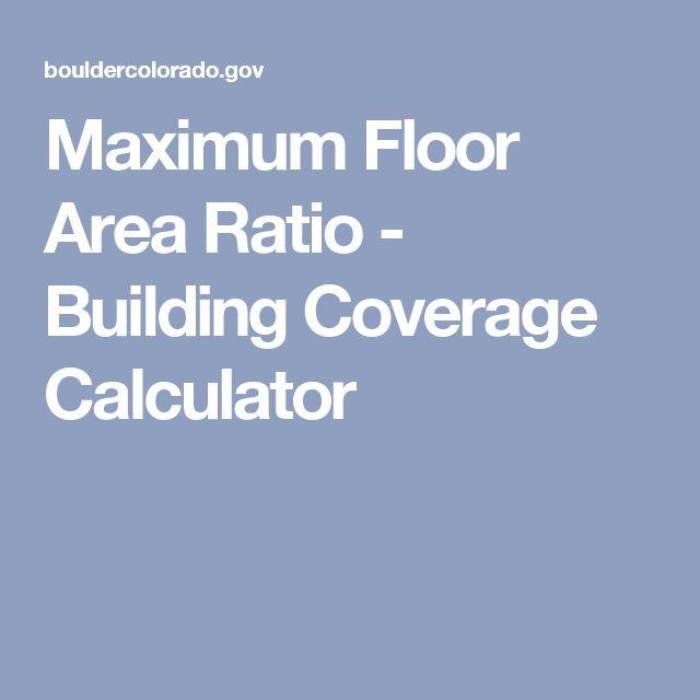 Maximum Floor Area Ratio - Building Coverage Calculator