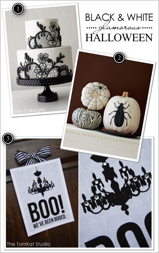 black white glam halloween ideas - Black And White Halloween Party