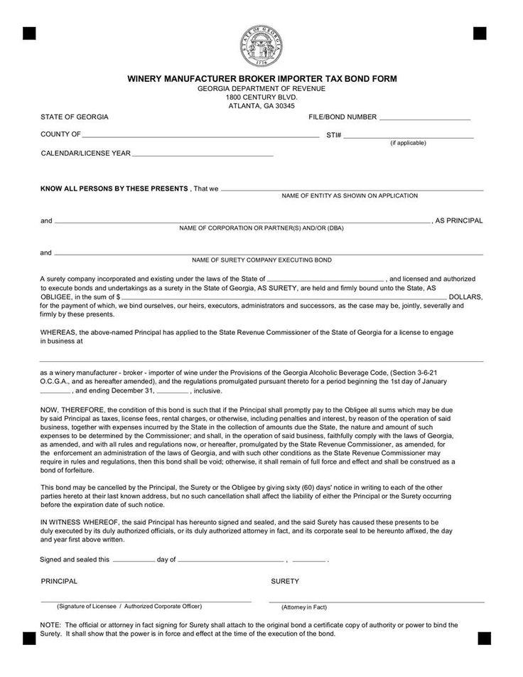 georgia certificate birth template bond tax bonds