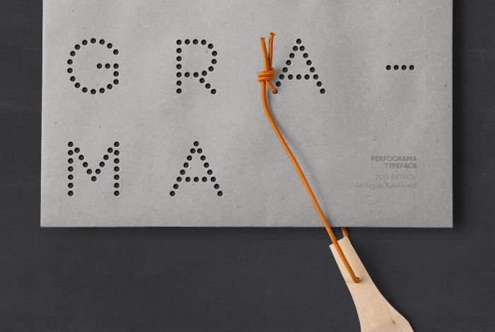 Perfograma – dot-by-dot font by Asen Petrov