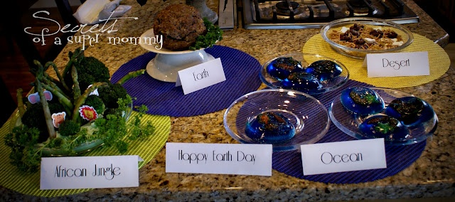 Earth Day Dinner from Secrets of a Super Mommy: Holiday Ideas, Super Mommy, Food, Dinners, Holidays, Dinner Ideas, Earth Day Crafts, Holiday Crafts, Kid