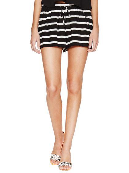 Striped Drawstring Short