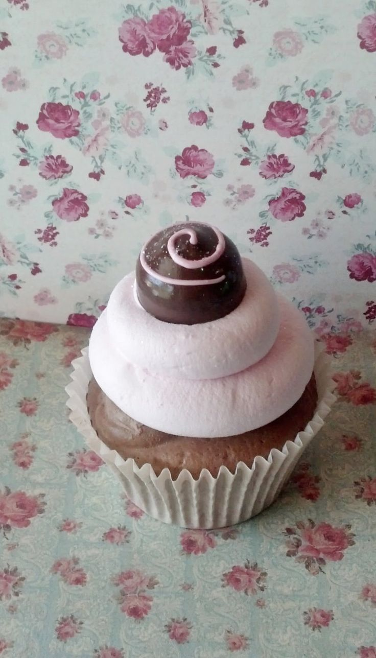 Chocolate Cherry Bonbon Fake Cupcake For Photo Props Picture Sessions And Kitchen  Decor Great For Party