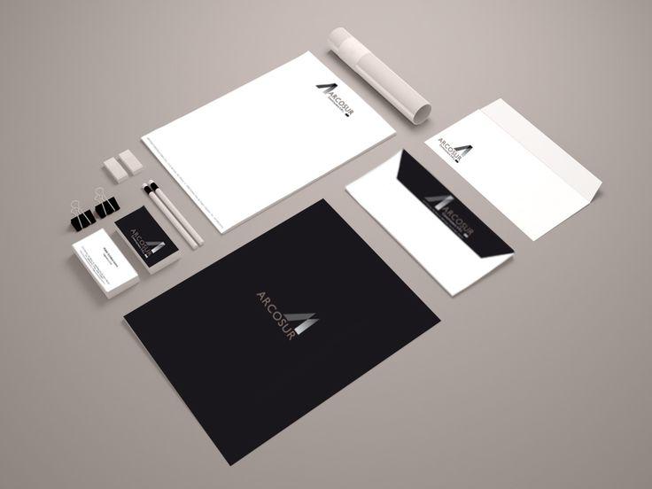 La empresa argentina Constructora Arcosur; nos solicita el Diseño de la Marca y la Comunicación gráfica: tarjetas visita, sobres, papel factura, sellos....etc  Este es el bonito resultado; un logotipo con una marca elegante, que transmite equilibrio y serenidad.