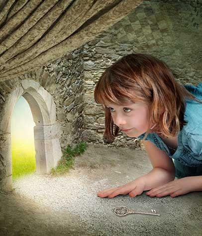 Schrijfopdracht: wat ziet zij door het kleine deurtje?