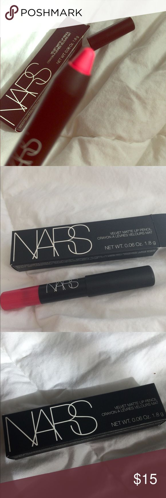 NARS Velvet Matte Lip Pencil Lets go crazy NIB, Never been used, DELUXE sized sample NARS Makeup Lipstick