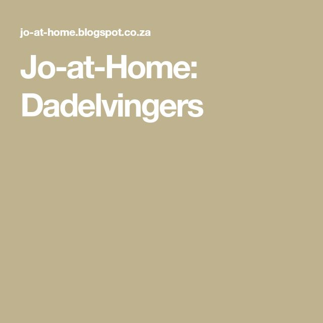 Jo-at-Home: Dadelvingers