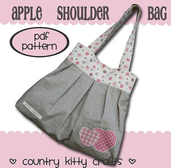 Pattern Cartamodello  Apple shoulder bag  by CountrykittyHandmade