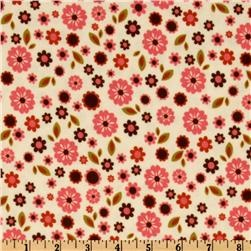 Indian Summer Flannel Blooms Cream