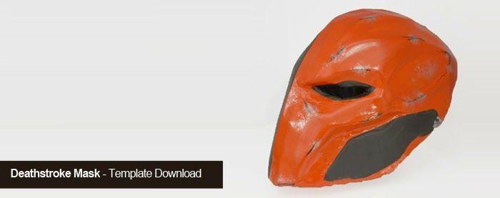 Deathstroke Mask - Exterminador (DC Comics)  Template Download