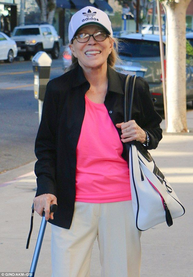 Living legend: Faye Dunaway looked in great spirits as she took a stroll in Beverly Hills on Thursday