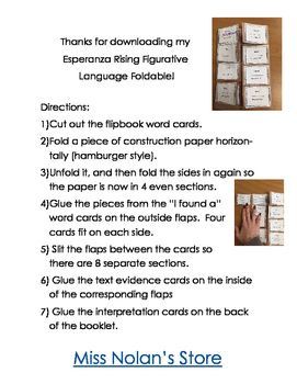 47 best esperanza rising images on pinterest esperanza rising esperanza rising figurative language foldable ccuart Gallery