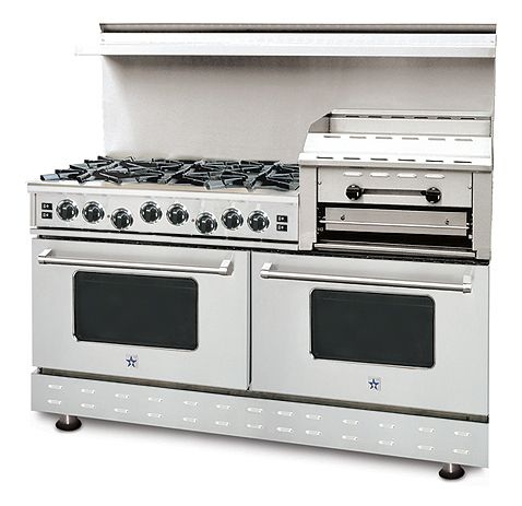 "60"" range. I WANT this! In red. And a kitchen big enough to handle it."
