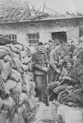 WW1 trench in a street