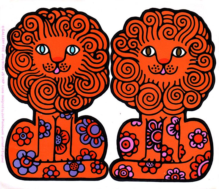 Lion Stickers by Jan Pienkowski (Gallery Five Sticky Seals)