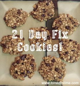 Chocolate Chip Cookies - 21 Day Fix Approved! - Toned in Time