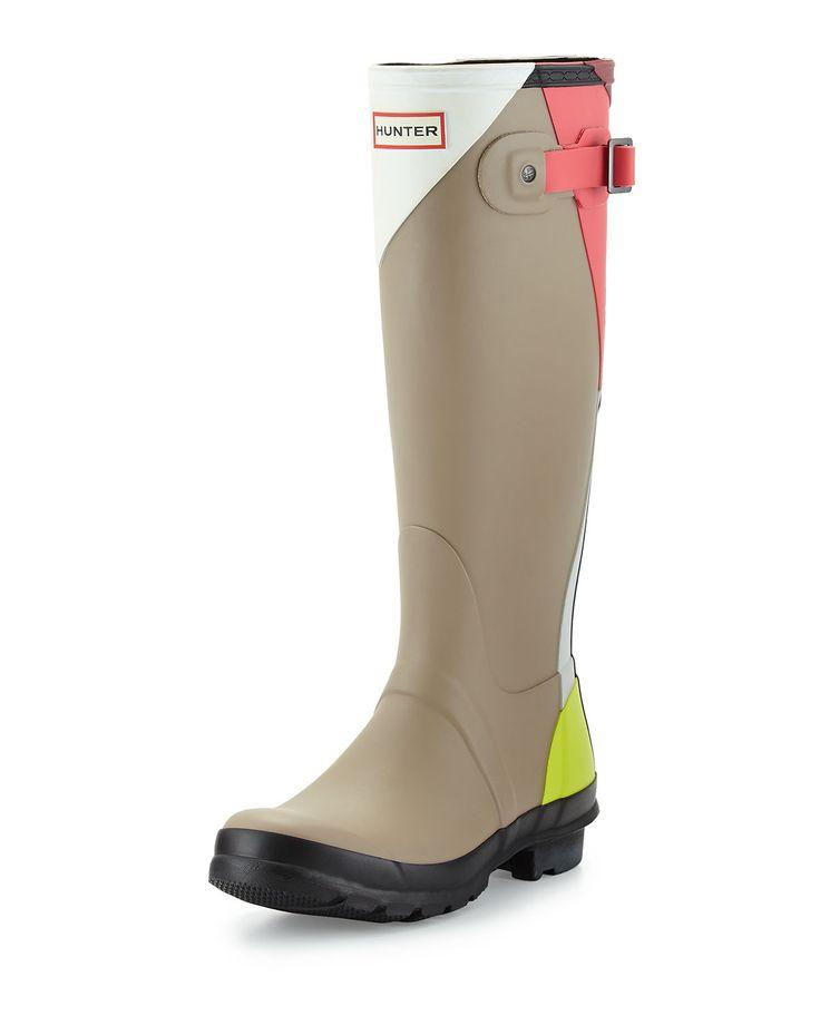 Hunter Boot Original Tall Dazzle Welly Boot, Bright Watermelon