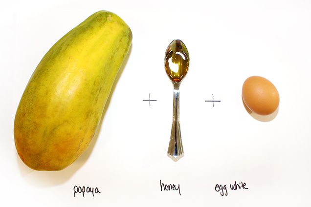 8 Skin-Transforming Face Masks You Can Make Out of Food: Homemade DIY Face Mask Recipes - how to make a papaya mask to treat dull skin