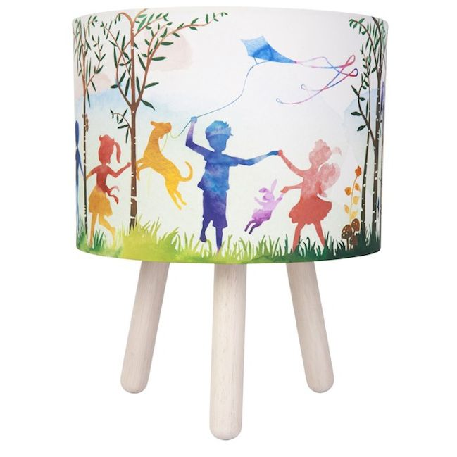 IN THE WOODS LAMP Fabric shade 320mm high x 255mm round