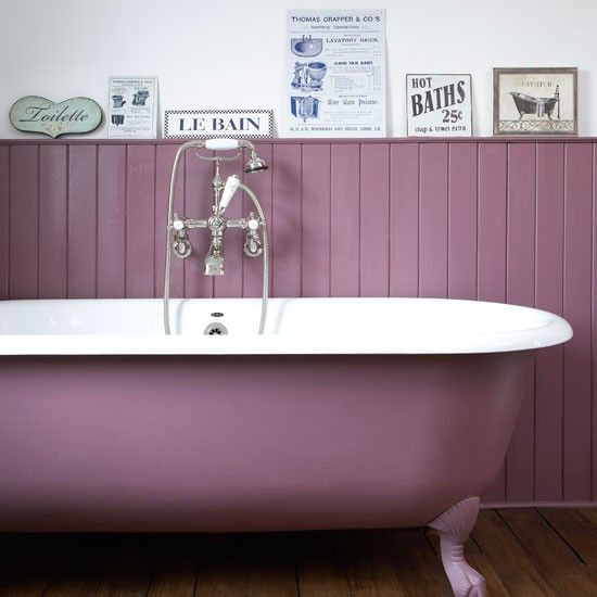 97 best images about cool house ideas on pinterest old for Plum bathroom ideas
