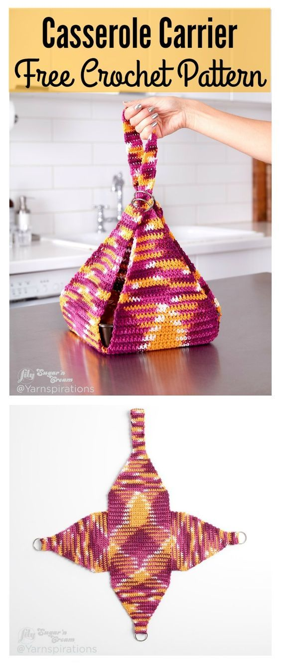 Casserole Carrier FREE Crochet Pattern
